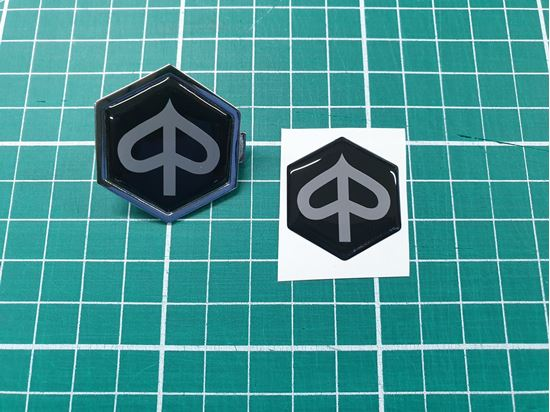 Picture of Vespa Horncast insert for Badge Holder 32mm tall x 28mm wide