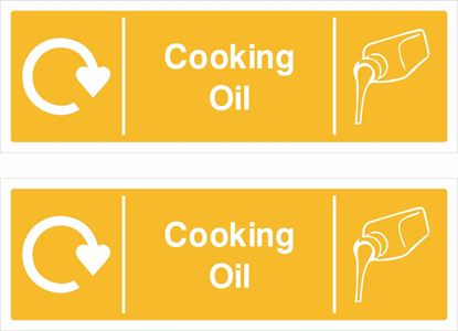 Picture of Cooking Oil Decals / Stickers