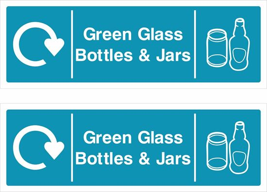 Picture of Green Glass, Bottles and Jars Decals / Stickers