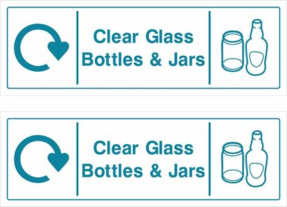 Picture of Clear Glass, Bottles & Jars Decals / Stickers