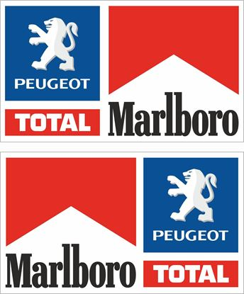 Picture of Peugeot Total Marlboro Decals / Stickers