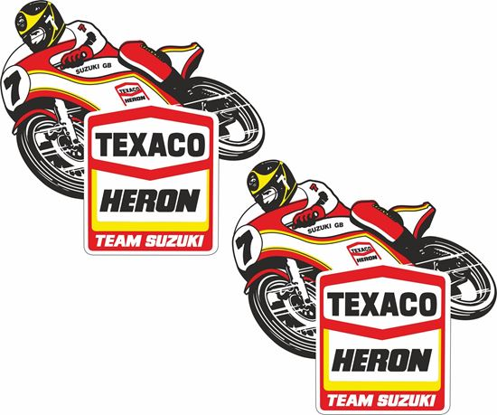 Picture of Barry Sheene Texaco Heron Decals / Stickers