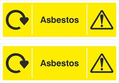 Picture of Asbestos Decals / Stickers