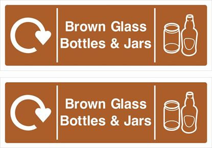 Picture of Brown Glass, Bottles & Jars Decals / Stickers