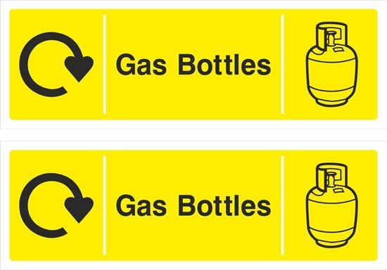Picture of Gas Bottles Decals / Stickers