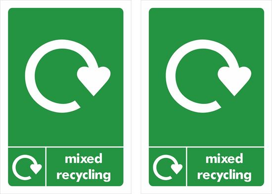 Picture of Mixed Recycling  Decals / Stickers