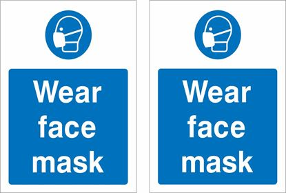 Picture of Wear face mask Decals / Stickers