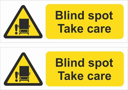 Picture of Caution Blind spot, Take care Decals / Stickers