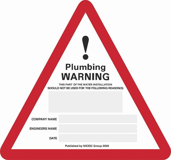 Picture of GAS Plumbing Labels / Stickers