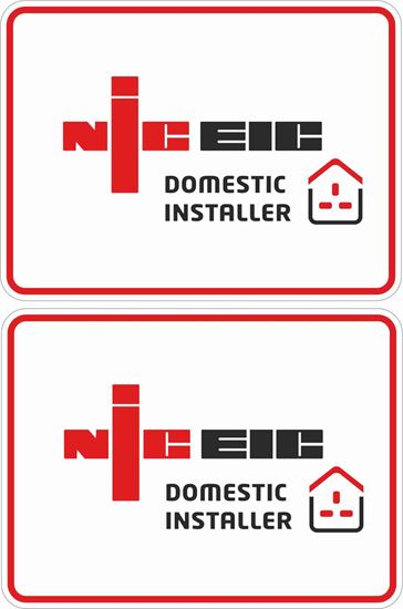 Picture of NICEIC Domestic Installer Labels / Stickers