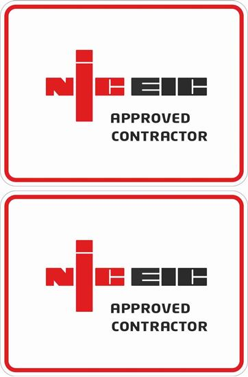 Picture of NICEIC Approved Contractor Labels / Stickers