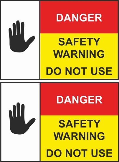 Picture of GAS Danger Safety Warning Labels / Stickers