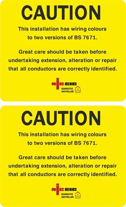 Picture of Domestic Installer NICEIC Caution Labels / Stickers