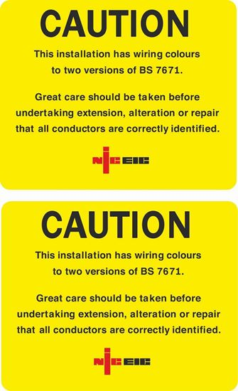 Picture of Approved Contractor NICEIC Caution Labels / Stickers
