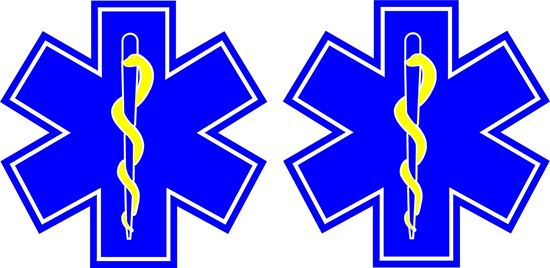 Picture of Ambulance Star of Life Decals / Stickers