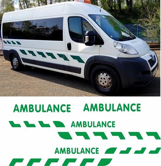 Picture of Ambulance Chevron Sticker Kit - Reflective