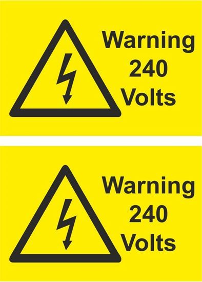 Picture of Warning 240 Volts Decals / Stickers