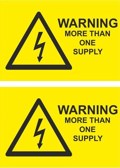 Picture of Warning, More than one supply Decals / Stickers