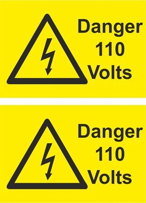 Picture of Danger, 110 Volts Decals / Stickers
