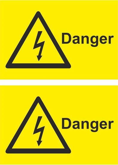 Picture of Danger Decals / Stickers