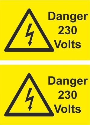 Picture of Danger, 230 Volts Decals / Stickers