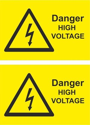 Picture of Danger, High Voltage Decals / Stickers