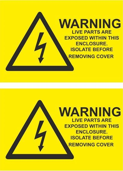 Picture of Warning, Live Parts are exposed... Decals / Stickers