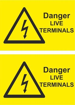 Picture of Danger, Live Terminals Decals / Stickers