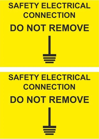Picture of Safety Electrical connection...Decals / Stickers