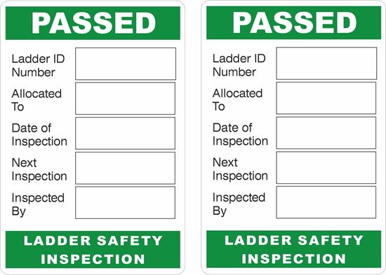 Picture of Ladder Inspection Decals / Stickers