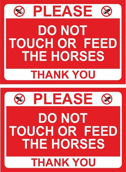 Picture of Please do not touch or feed the horses... Decals / Stickers