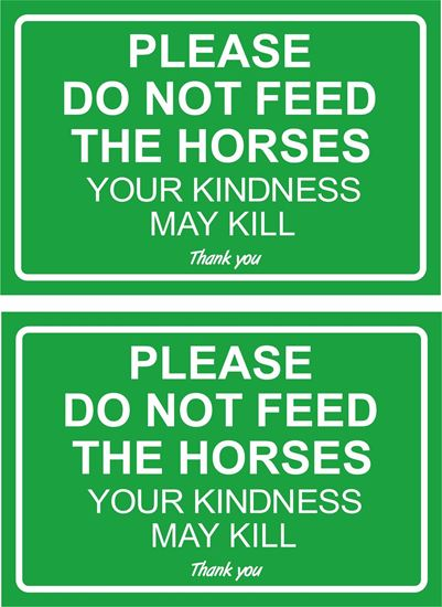 Picture of Please do not feed the horses... Decals / Stickers