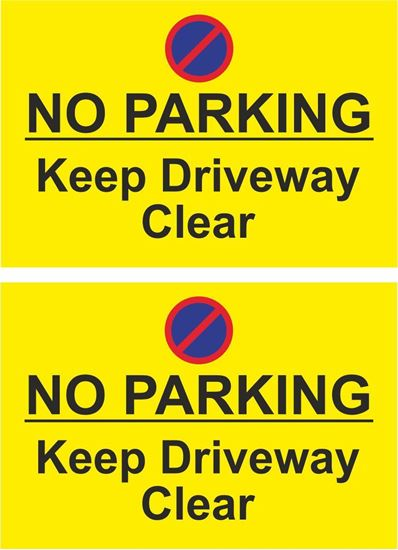 Picture of No parking keep driveway clear Decals / Stickers