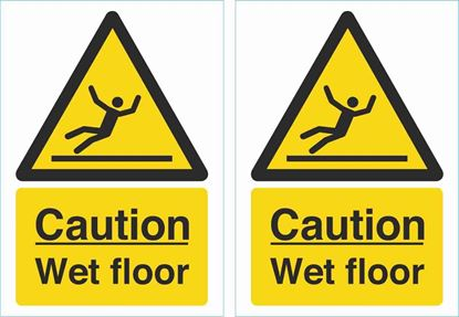 Picture of Caution wet floor Decals / Stickers