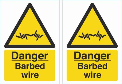 Picture of Danger barbed wire Decals / Stickers