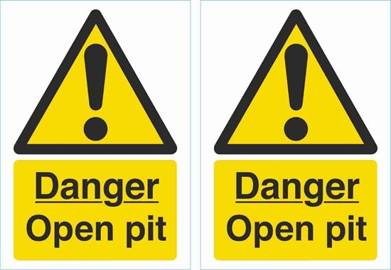 Picture of Danger open pit Decals / Stickers