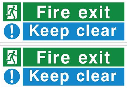 Picture of Fire Exit keep clear Decals / Stickers