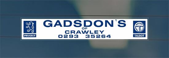 Picture of Gadsdons - Crawley Dealer rear glass Sticker
