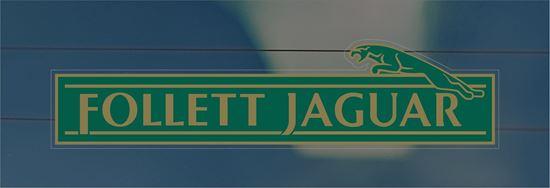 Picture of Follett Jaguar Dealer rear glass Sticker