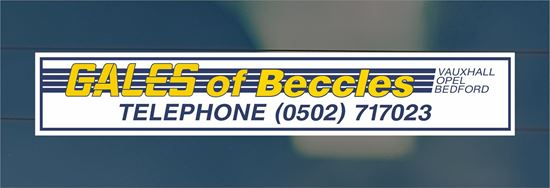 Picture of Gales of Beccles - Bedford Dealer rear glass Sticker