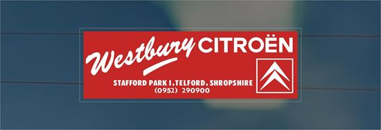 Picture of Westbury - Telford Dealer rear glass Sticker