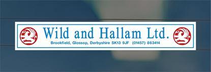 Picture of Wild and Hallam - Derbyshire Dealer rear glass Sticker