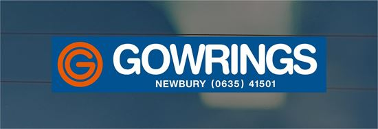 Picture of Gowrings  - Newbury Dealer rear glass Sticker
