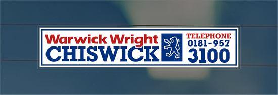 Picture of Warwick Wright - Chiswick Dealer rear glass Sticker
