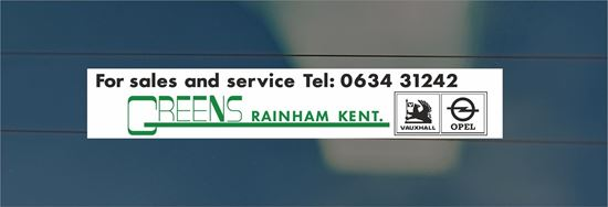 Picture of Greens - Kent Dealer rear glass Sticker