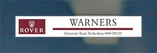 Picture of Warners - Tewkesbury Dealer rear glass Sticker