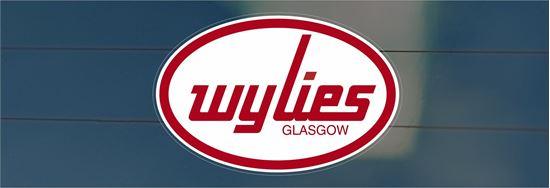Picture of Wylies - Glasgow rear glass Sticker