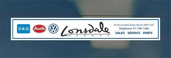 Picture of Lonsdale Barnes-  London Dealer rear glass Sticker