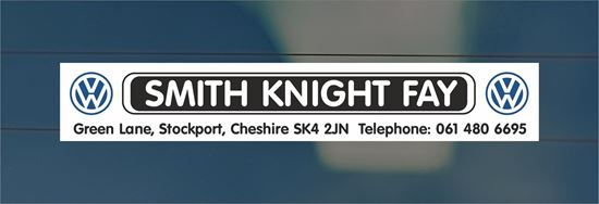Picture of Smith Knight Fay - Stockport Dealer rear glass Sticker