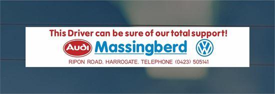 Picture of Massingberd - Harrogate Dealer rear glass Sticker